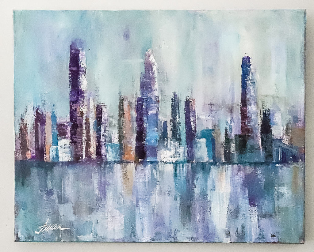 Cityscape Acrylic on Canvas