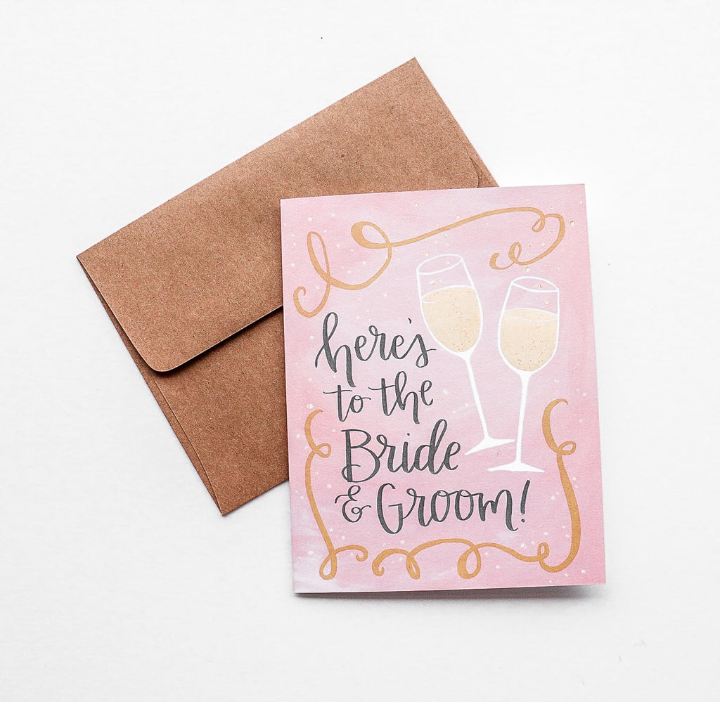 Here's to the Bride and Groom Greeting Card