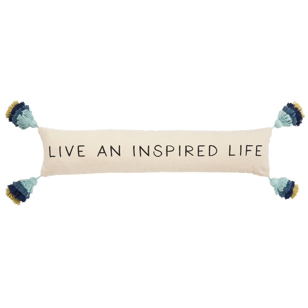 Inspired Life Tassel Pillow