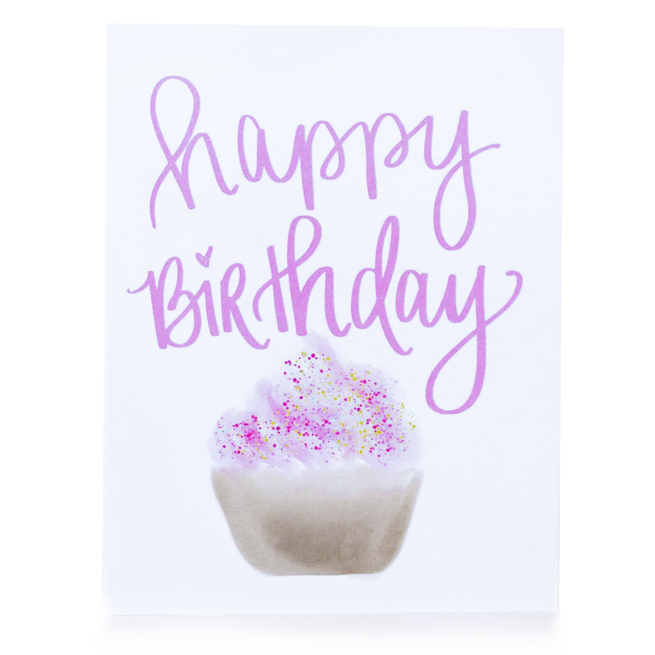 Cupcake Happy Birthday Greeting Card