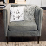 Grey Velour Arm Chair