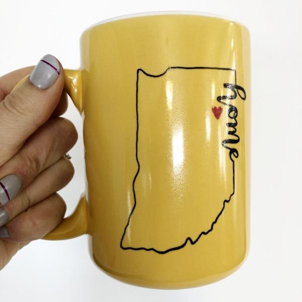 Yellow Indiana Love Coffee Mug