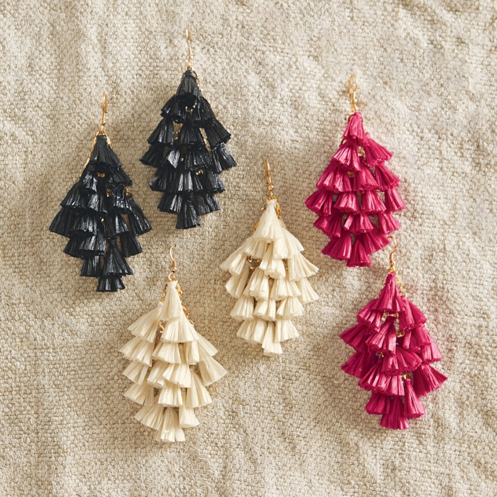 Raffia Tassel Earrings