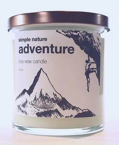Simple Nature Adventure Candle