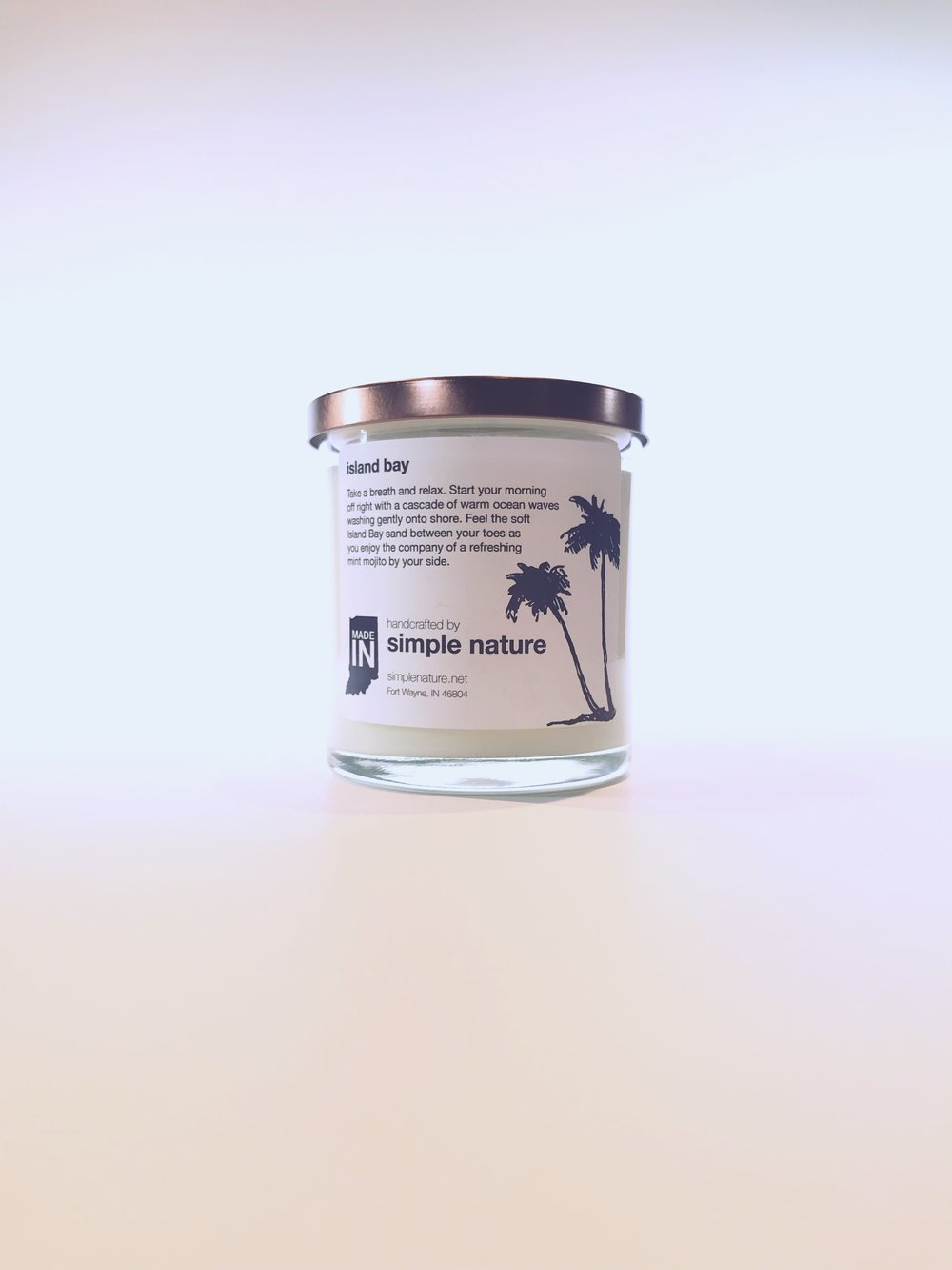 Simple Nature Island Bay Candle