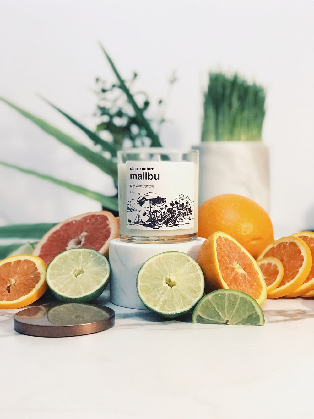 Simple Nature Malibu Candle