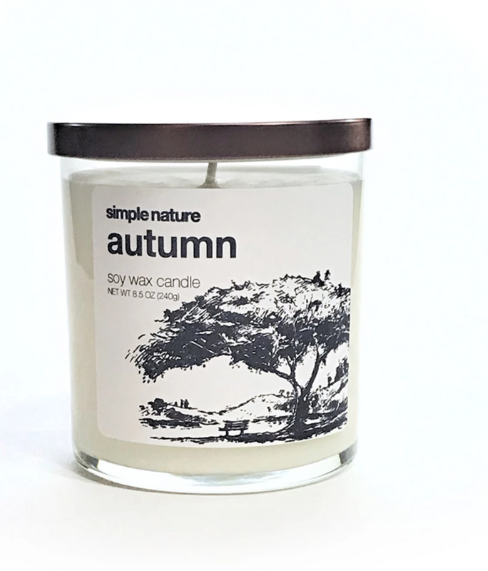 Simple Nature Autumn Candle