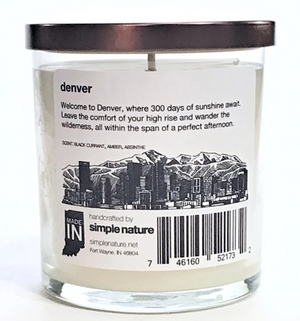 Simple Nature Denver Candle