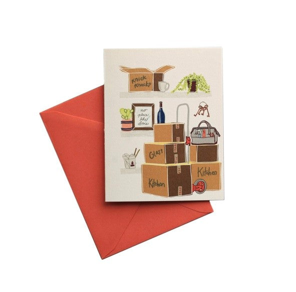 Shelfies Moving Boxes Greeting Card