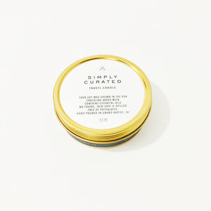 Simply Curated Travel Candle - Coconut Shea
