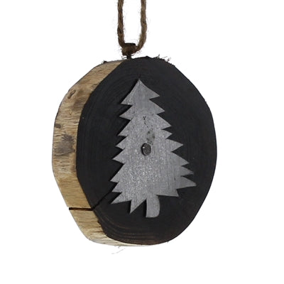 Wood Slice Tree Ornament
