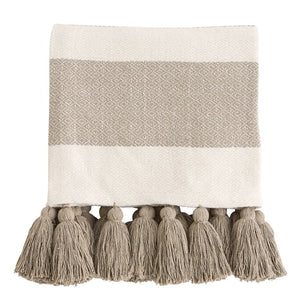 Woven Tassel Throw