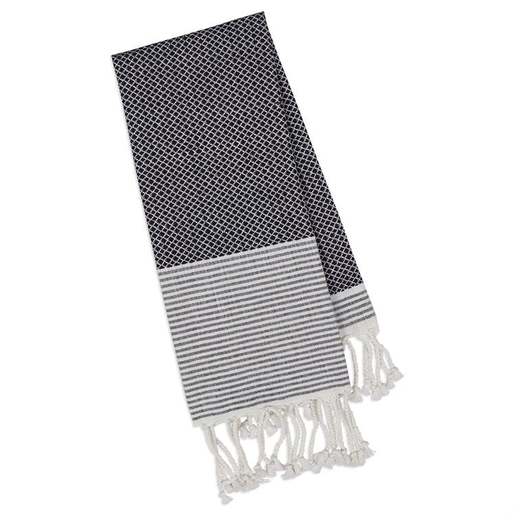 Black & White Diamond Fouta European Beach Towel
