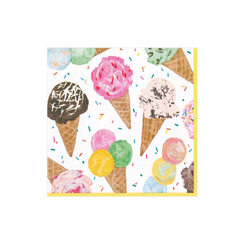 Ice Cream Cone Beverage Napkin