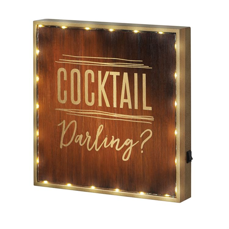 Cocktail Darling Light Up Sign Plaque