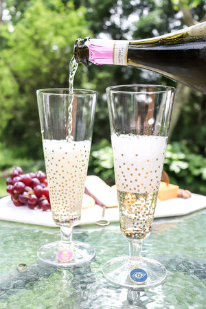 Bubbles Champagne Flutes Set of 2