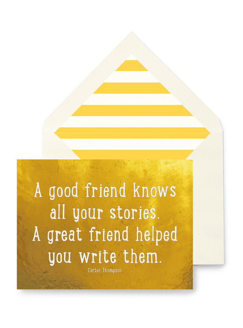 Good Friend Great Friend Greeting Card