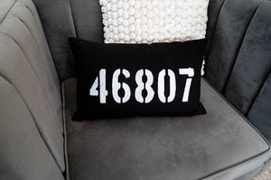 "Zip Code 18"" Lumbar Pillow"