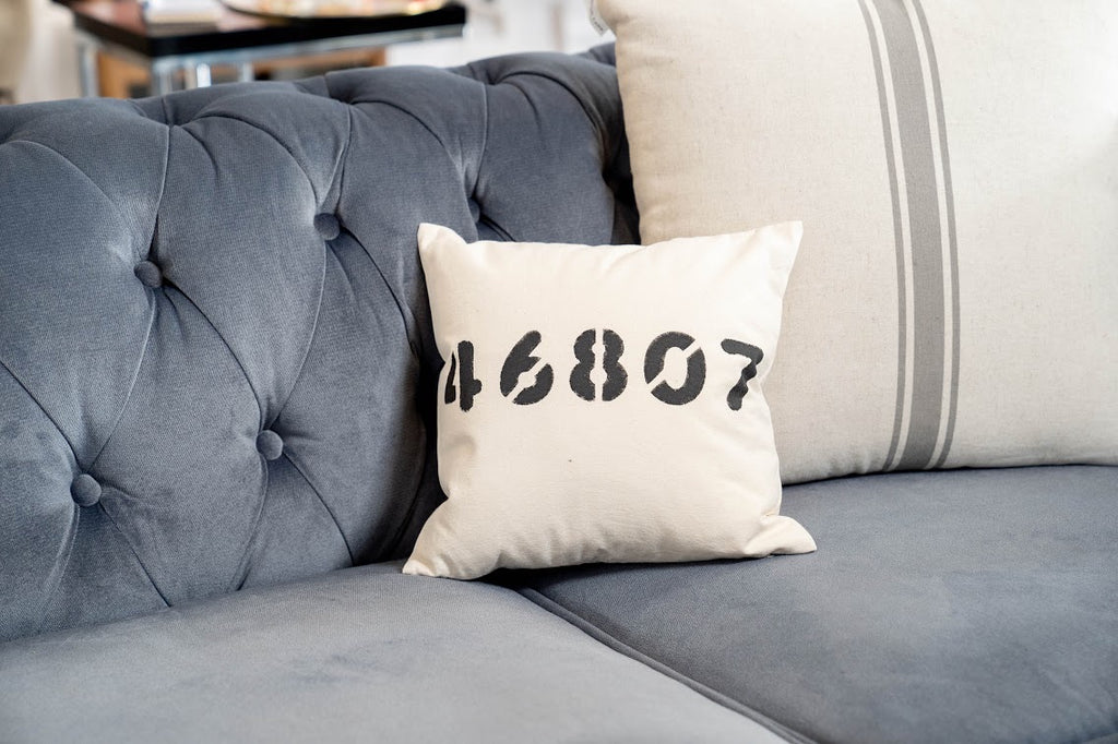 "Zip Code 12"" Pillow"