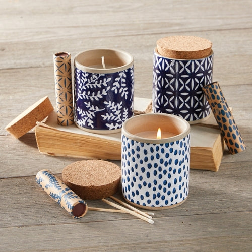 Indigo Candle Set