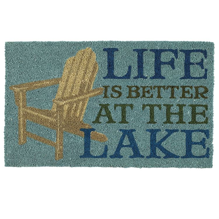 """Life Is Better At The Lake"" Entry Rug Doormat"