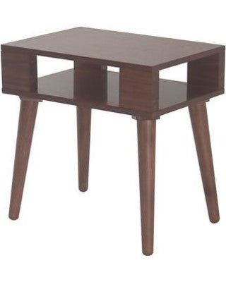 MCM Solid Wood End Table