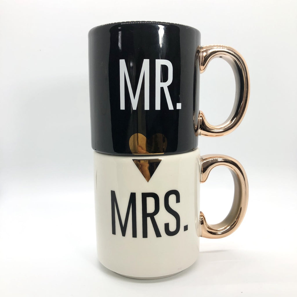 Mr. and Mrs. Couple Mugs, Set of 2