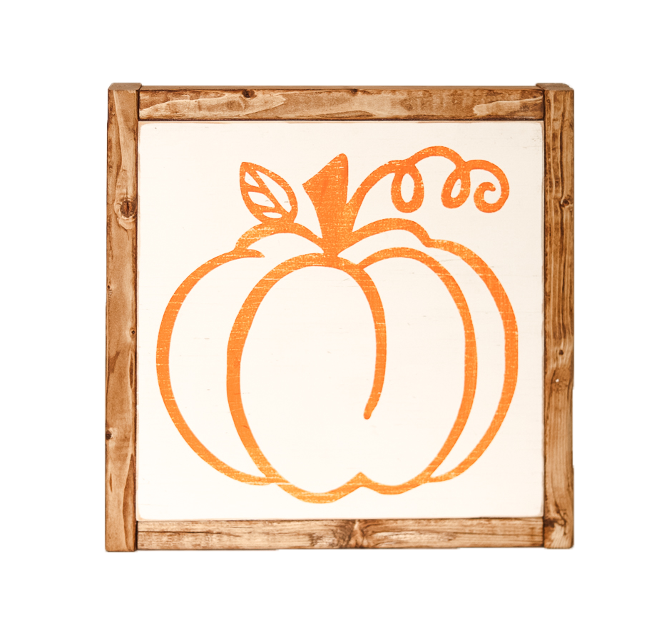 Orange Pumpkin Sign