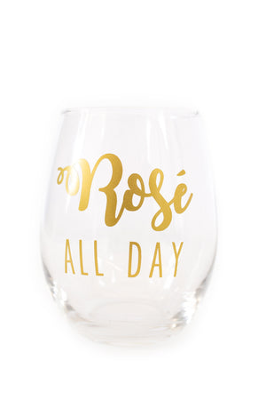 Rosé All Day Stemless Wine Glass