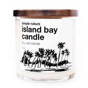 . Island Bay candle by Simple Nature in a glass jar