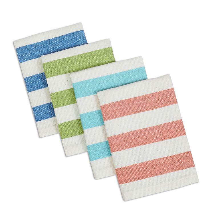 Cabana Striped Pastel Dish Cloth Set of 4
