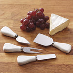 White Cheese Knife Set