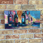 Wine Bottles Acrylic on Canvas by Susan Voigt