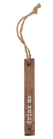 Wood Wine Bottle Tag
