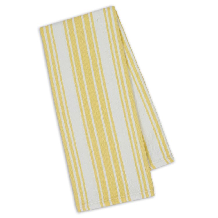 Lemon Zest Yellow Striped Hand Towel