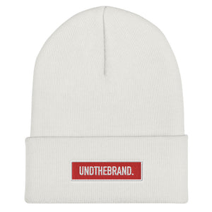 Classic Bar Beanie - White/Red