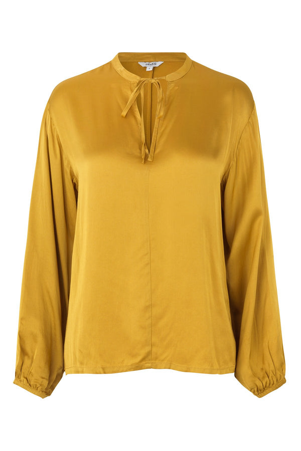 mbyM Lottie blouse, yellow, front view