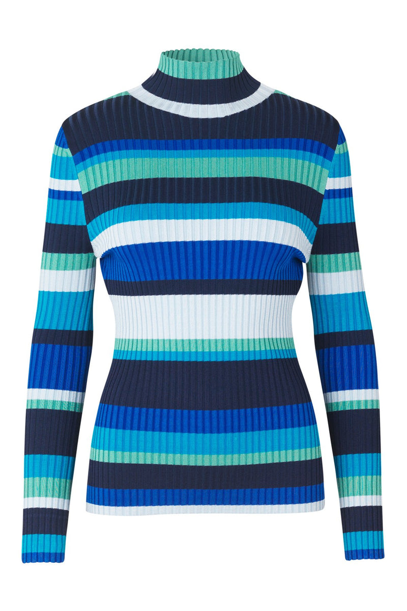 mbyM Joanne jumper, blue, front view