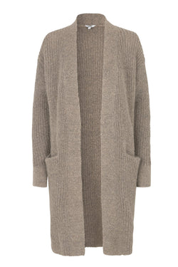mbyM Lupa cardigan, brown, front view