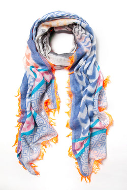 Ombre scarf, Blue