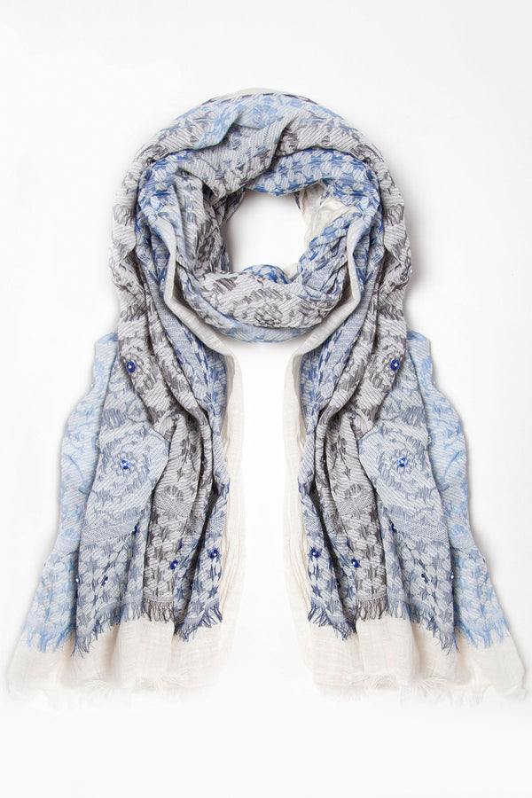 Ombre Scarf, Pale blue