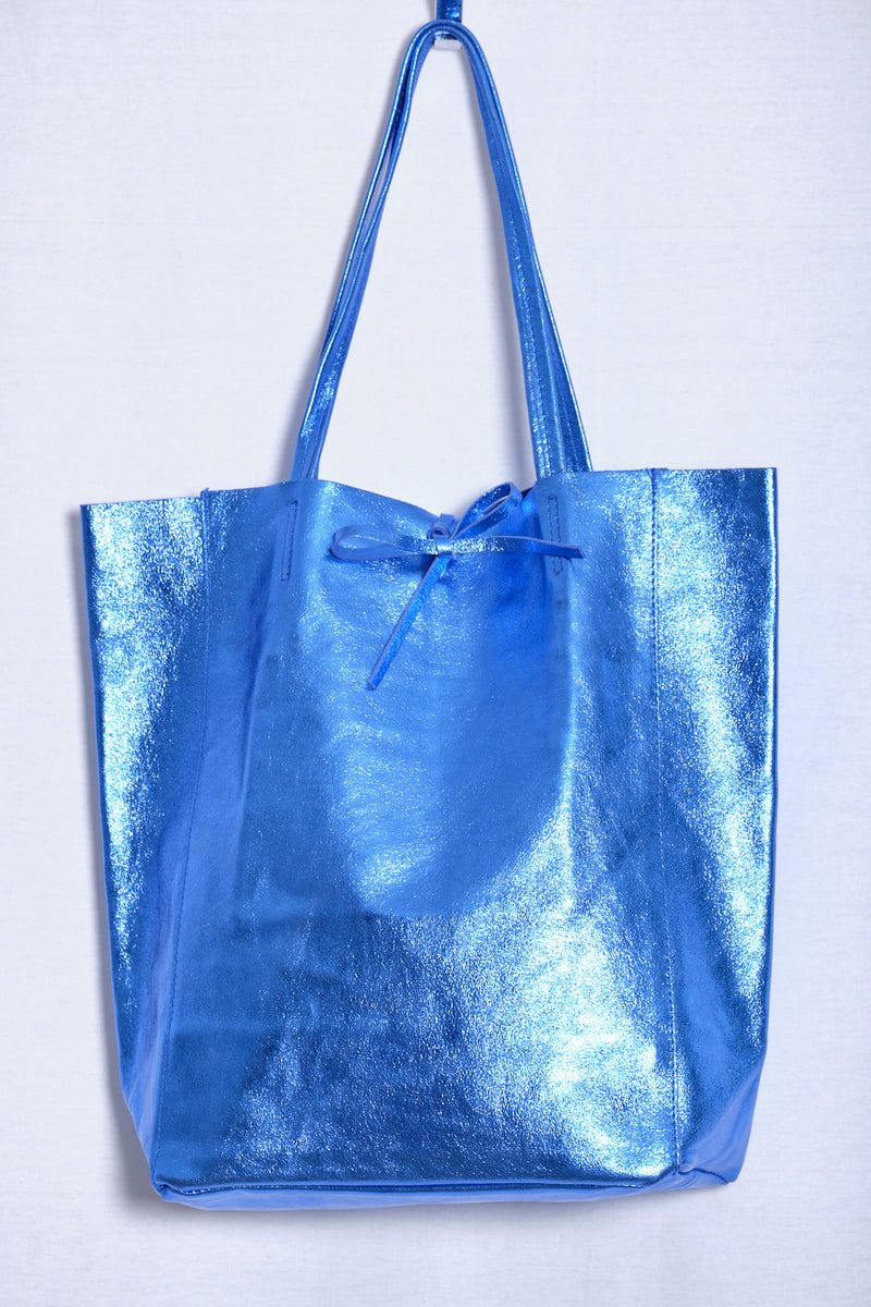 Leather bag, blue