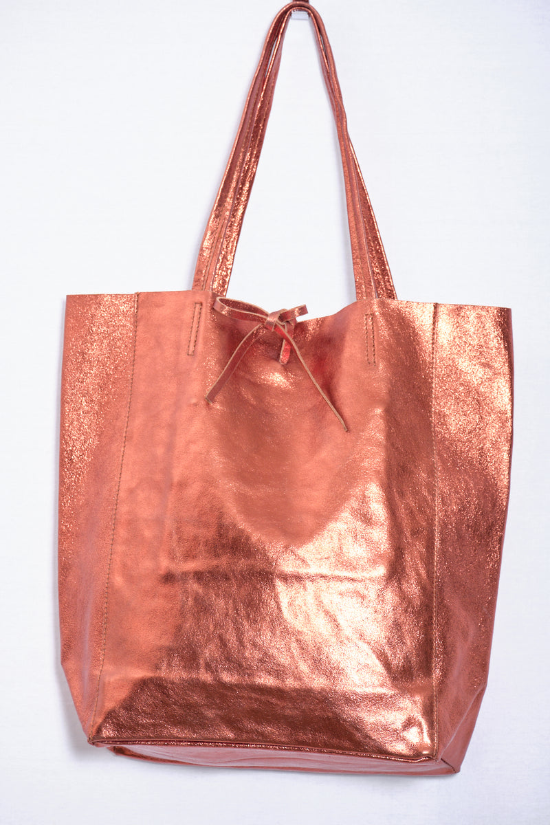 Leather bag, bronze
