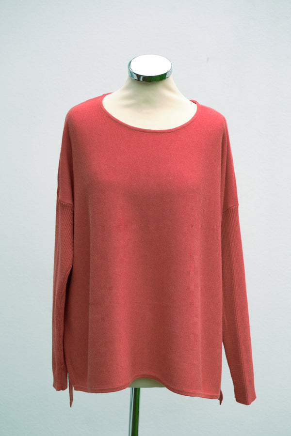 Button back jumper, Spice
