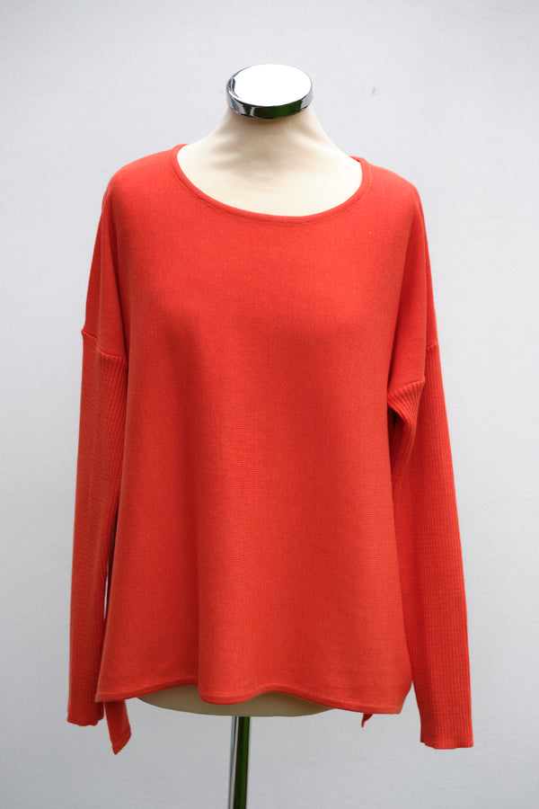 Bow back jumper, orange