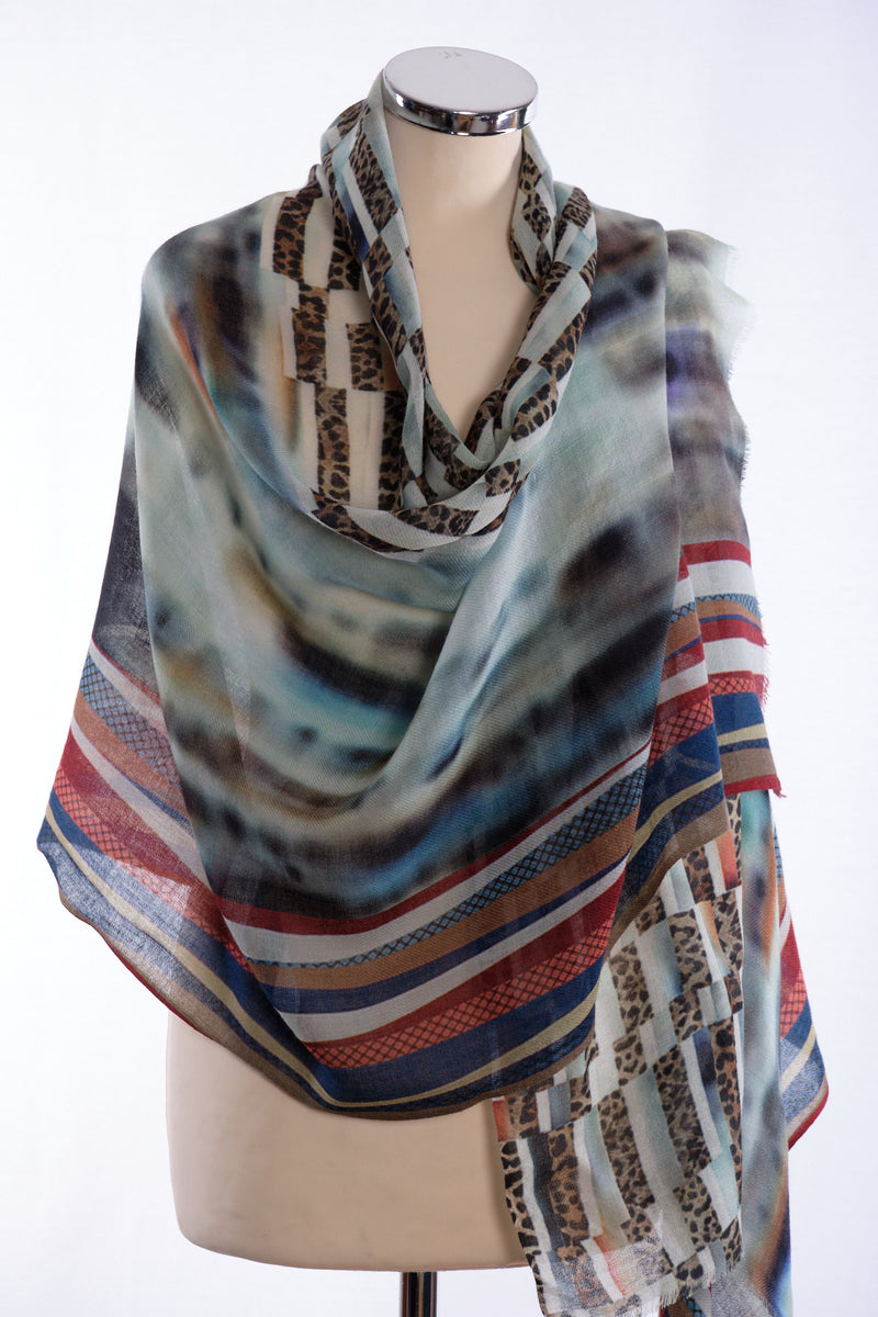Ombre scarf, taupe