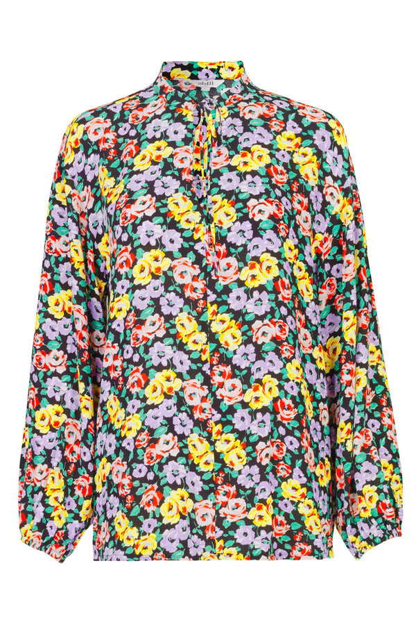 mbyM Lottie floral print top, multi colour, front view