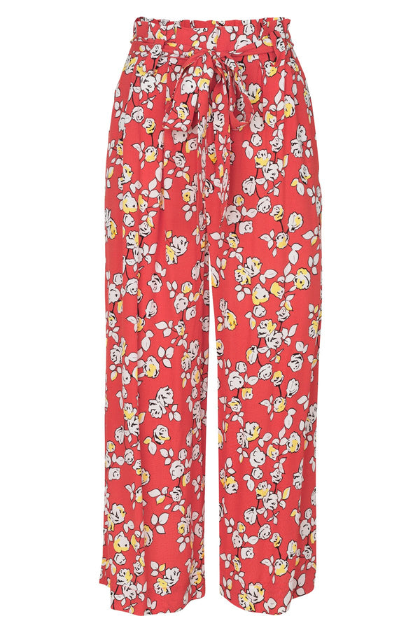 mbyM Annelot culottes in blossom print, coral, front view