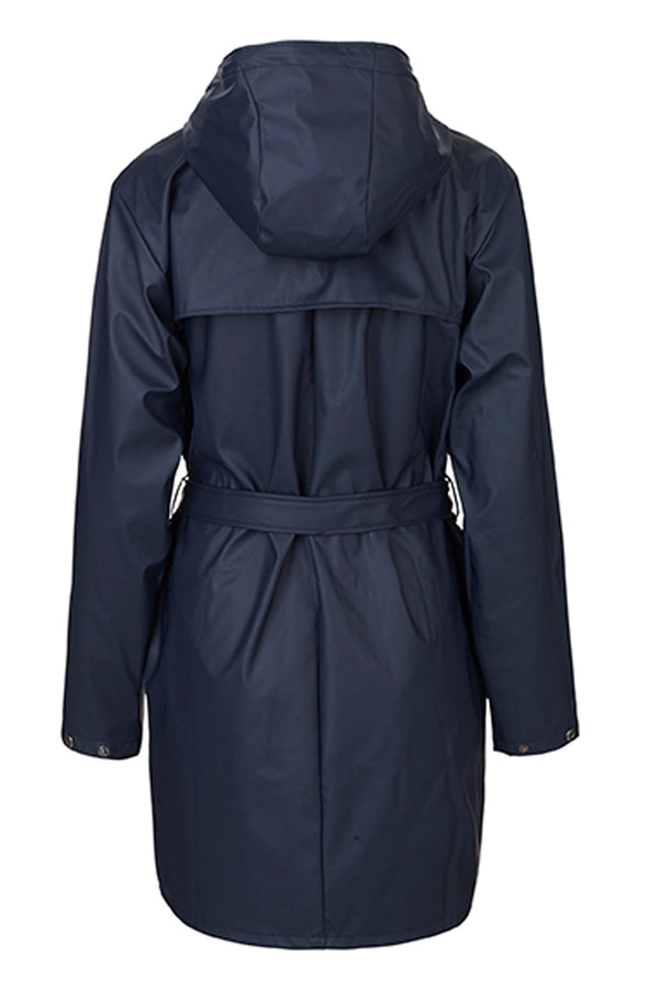 mbyM Festival raincoat, navy, rear view
