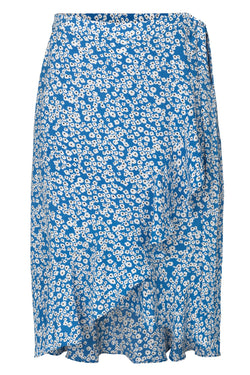 mbyM Sylvia frill edged skirt, sky blue, front view